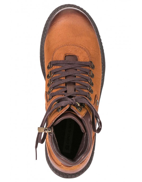 Мужские кожаные ботинки Cipo & Baxx CS116 TABACO  в наличии в Москве
