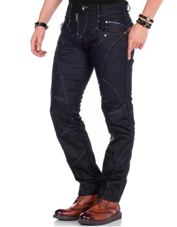 Брутальные дизайнерские джинсы Cipo & Baxx CD812 BLACK