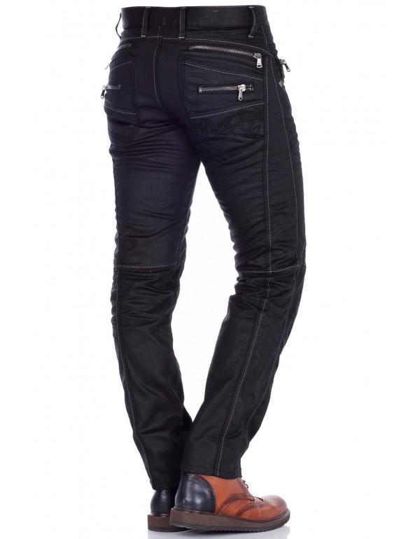 Мужские брендовые джинсы Cipo & Baxx CD812 BLACK в наличии в Москве