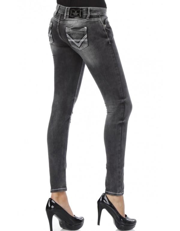 Дизайнрские брендовые джинсы Cipo & Baxx C46007 ANTRACIDE