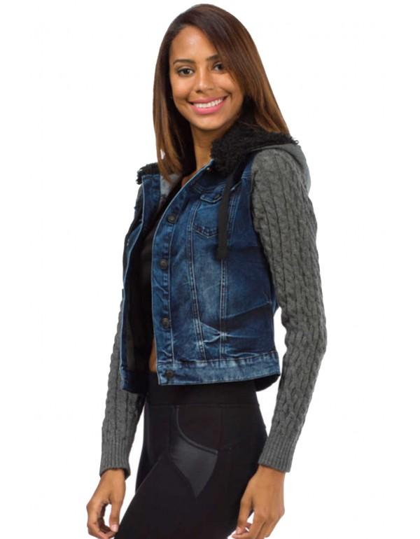 Брутальная женская джинсовая куртка Cipo & Baxx WC466 STANART в наличии