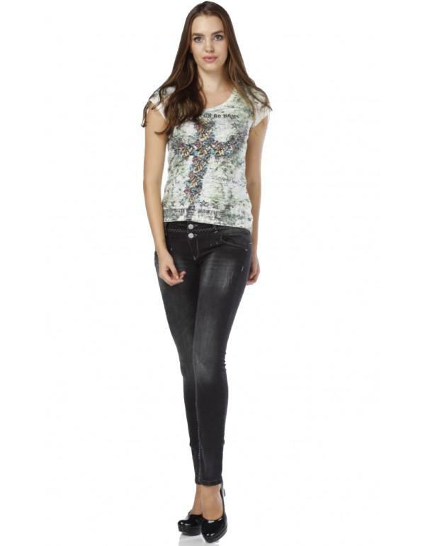 Дизайнерские брендовые джинсы Cipo & Baxx CBW0655 BLACK