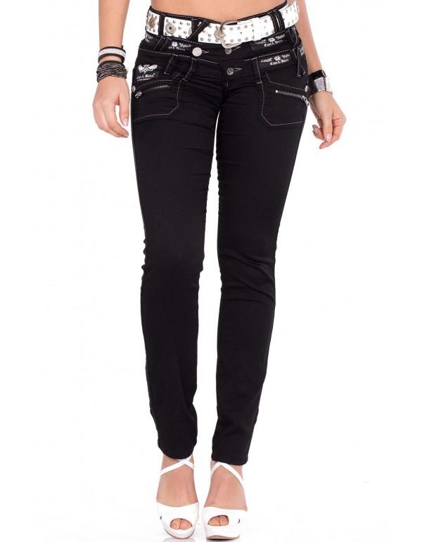 Дизайнерские брендовые джинсы Cipo & Baxx CBW313 BLACK