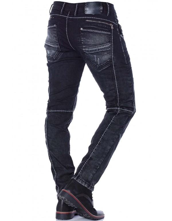 Брутальные дизайнерские джинсы Cipo & Baxx CD288 REGULAR