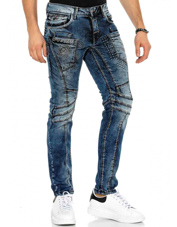 Мужские брендовые джинсы Cipo & Baxx CD418 DARK в наличии в Москве