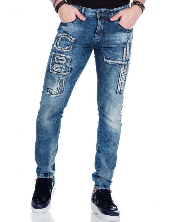 Мужские брендовые джинсы Cipo & Baxx CD431 BLUE  в наличии в Москве