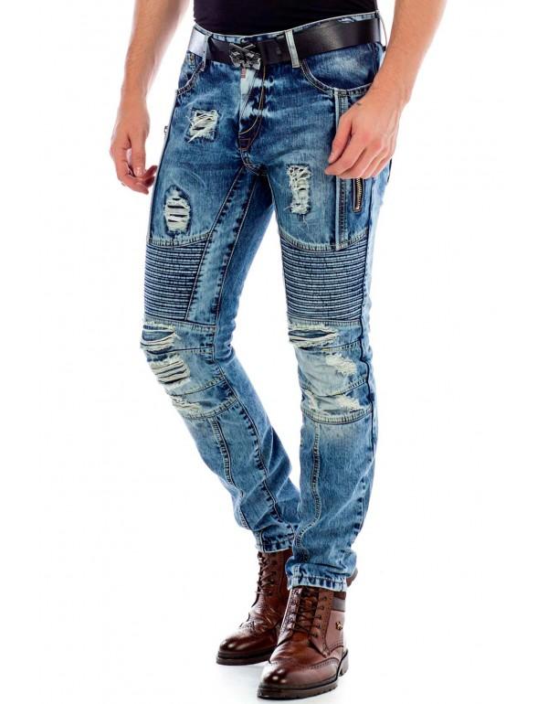 Мужские брендовые джинсы Cipo & Baxx CD464 BLUE в наличии в Москве