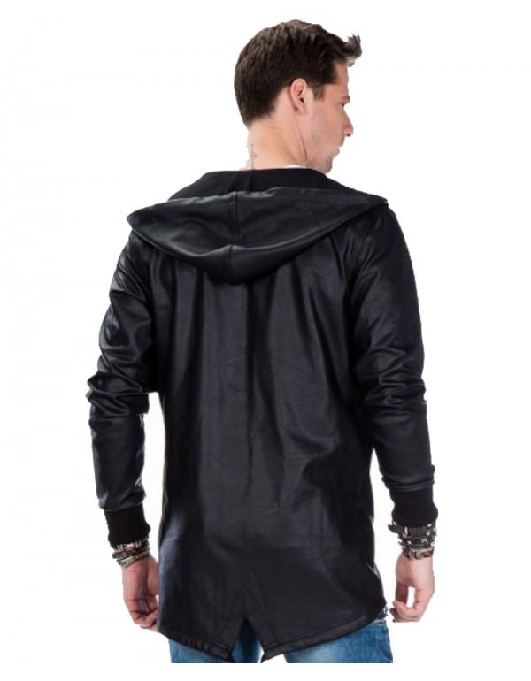 Брутальный дизайнерский кардиган Cipo & Baxx CL295 BLACK