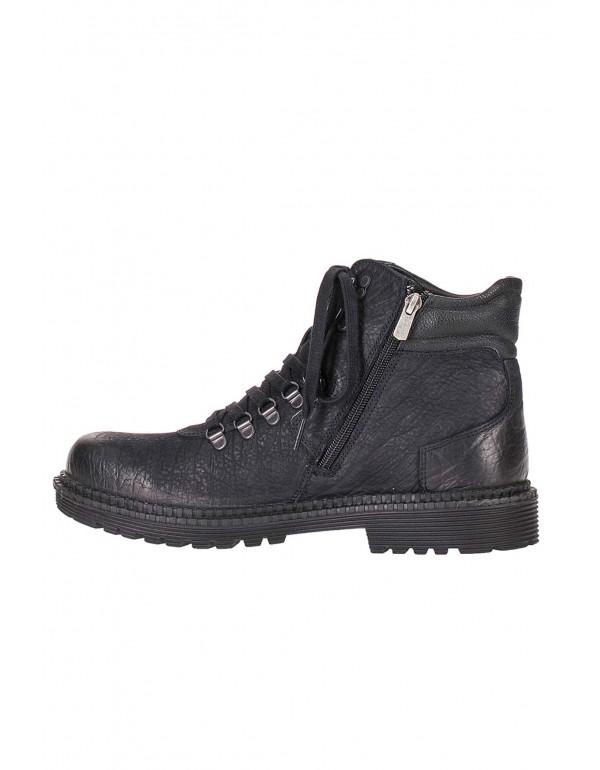 Мужские кожаные ботинки Cipo & Baxx CS116 BLACK в наличии в Москве