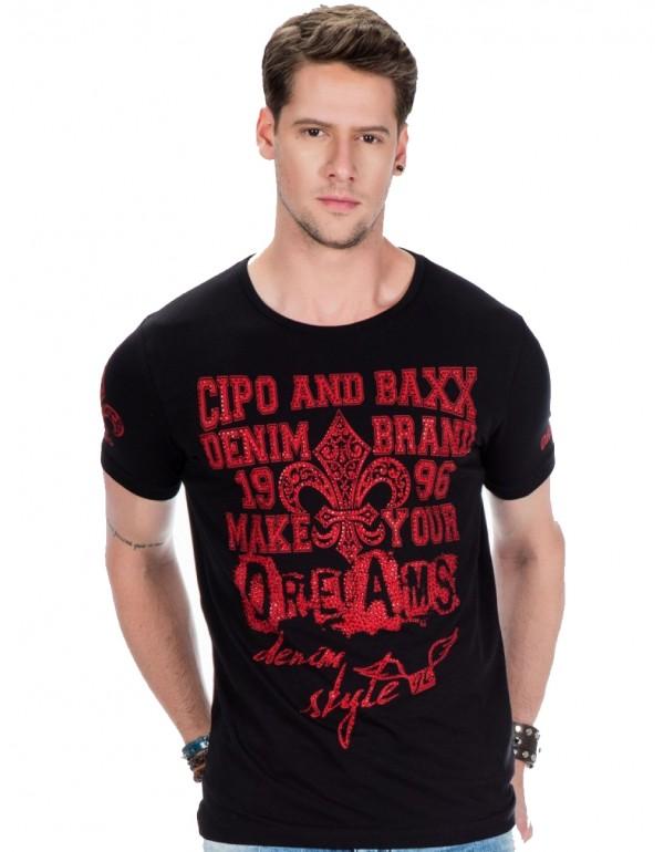 Мужская футболка Cipo & Baxx CT385 BLACK купить с наличием в Москве