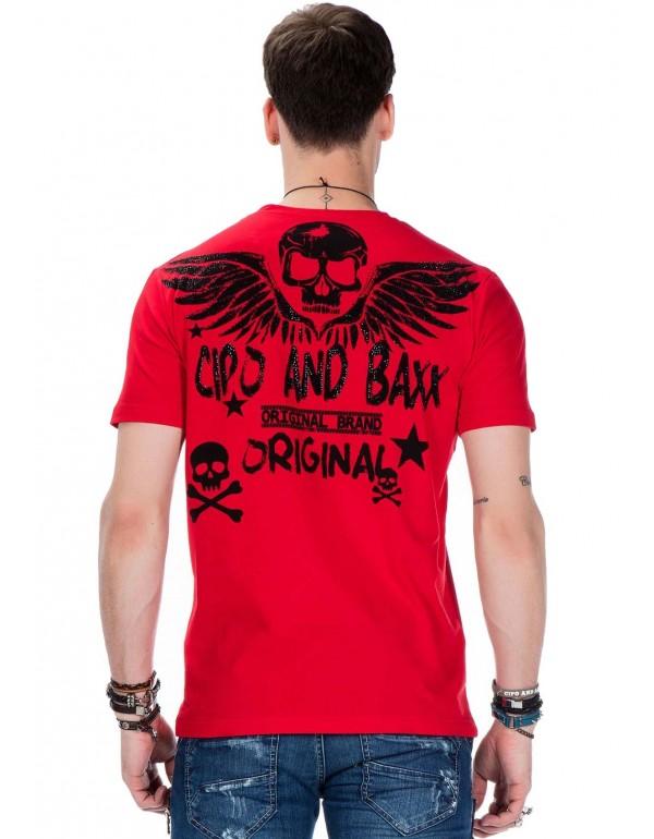 Мужская футболка Cipo & Baxx CT411 RED купить