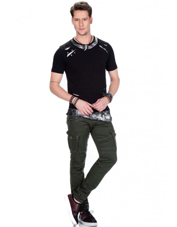 Мужская футболка Cipo & Baxx CT422 BLACK купить с наличием в Москве