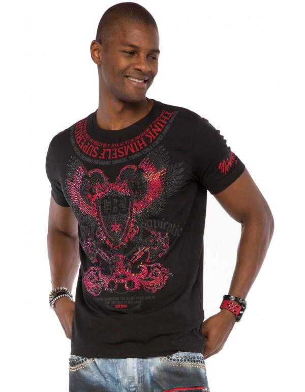 Мужская футболка Cipo & Baxx CT510 BLACK купить