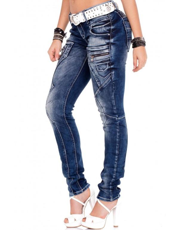 Дизайнерские брендовые джинсы Cipo & Baxx WD200B BLUE