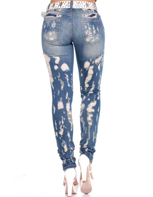 Дизайнерские брендовые джинсы Cipo & Baxx WD208 BLUE