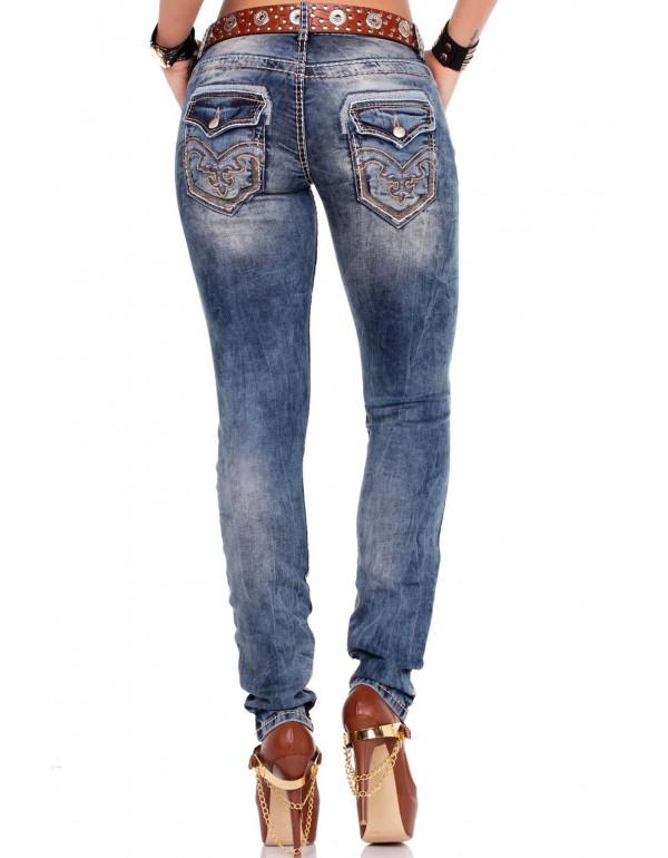 Дизайнерские брендовые джинсы Cipo & Baxx WD240 BLUE