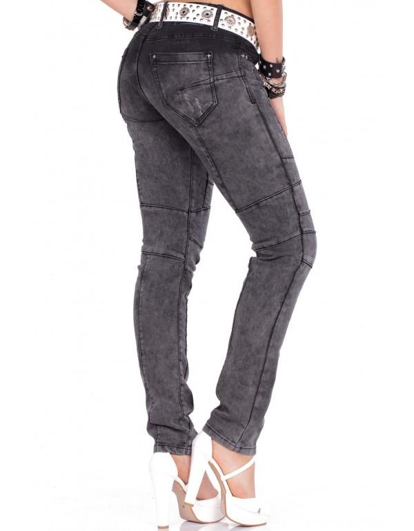 Дизайнерские брендовые джинсы Cipo & Baxx WD252 BLACK