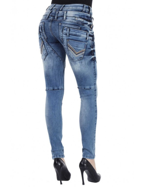 Дизайнерские брендовые джинсы Cipo & Baxx WD260 BLUE