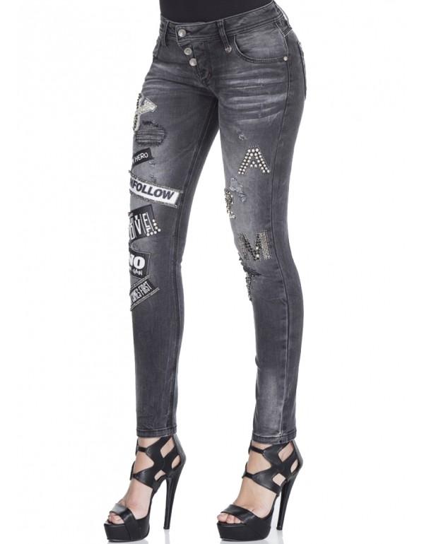Дизайнерские брендовые джинсы Cipo & Baxx WD308 GREY