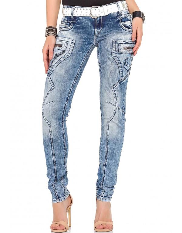 Дизайнерские брендовые джинсы Cipo & Baxx WD322 BLUE