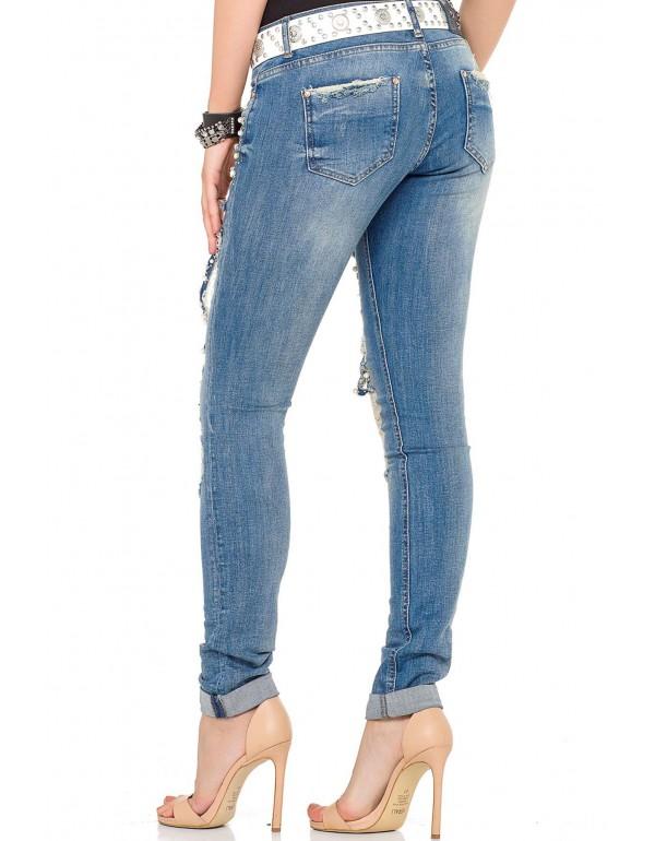 Дизайнерские брендовые джинсы Cipo & Baxx WD338 BLUE