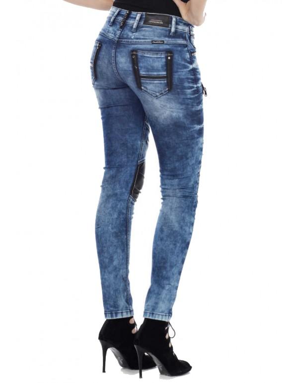 Дизайнерские брендовые джинсы Cipo & Baxx WD346 BLUE