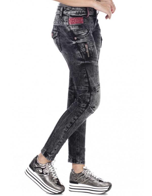 Дизайнерские брендовые джинсы Cipo & Baxx WD358 BLACK