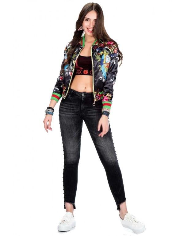 Дизайнерская брендовая куртка Бомбер Cipo & Baxx WJ138 BLACK