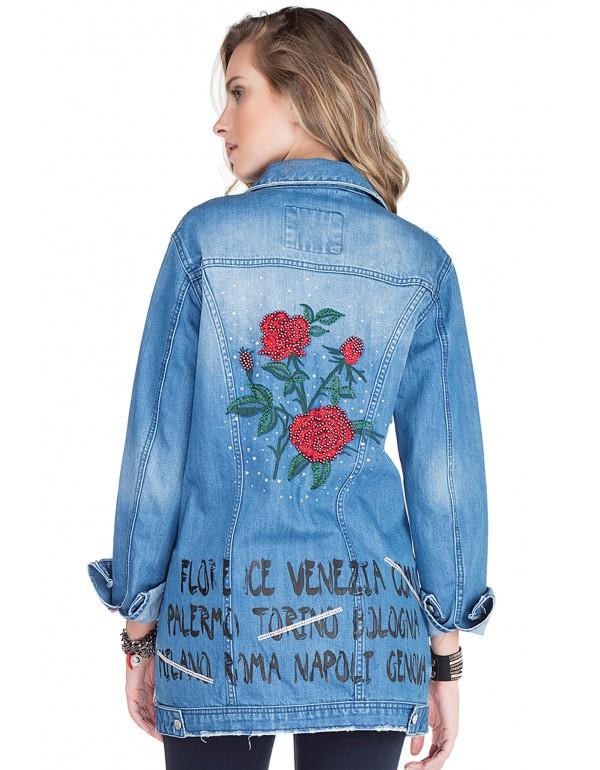 Дизайнерская брендовая джинсоваяя куртка Cipo & Baxx WJ139 BLUE