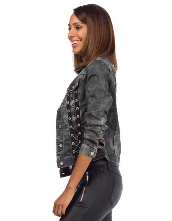 Дизайнерская брендовая джинсовая куртка  Cipo & Baxx WJ142 BLACK