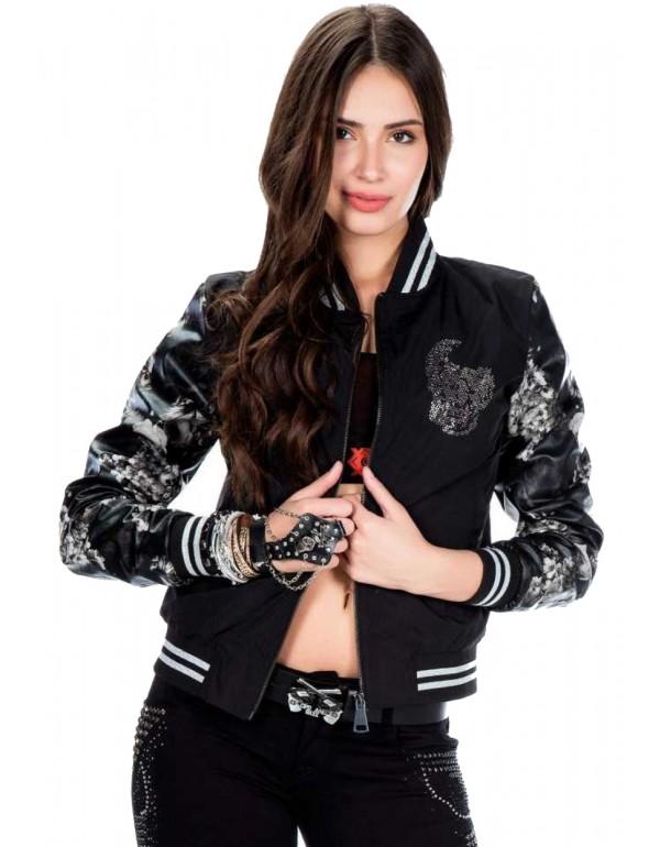 Дизайнерская брендовая куртка Бомбер Cipo & Baxx WJ152 BLACK