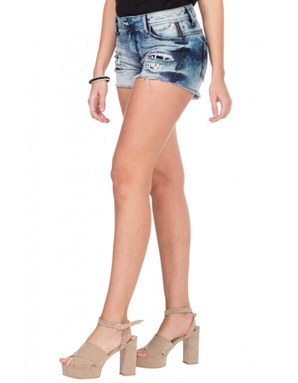 Дизайнерские джинсовые шорты Cipo & Baxx WK138  BLUE