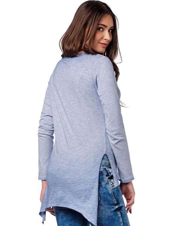 Дизайнерский брендовый лонгслив Cipo & Baxx WL174 BLUE