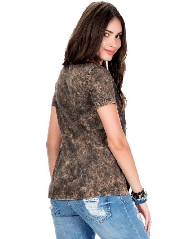 Дизайнерская брендовая футболка Cipo & Baxx WT194 BROWN
