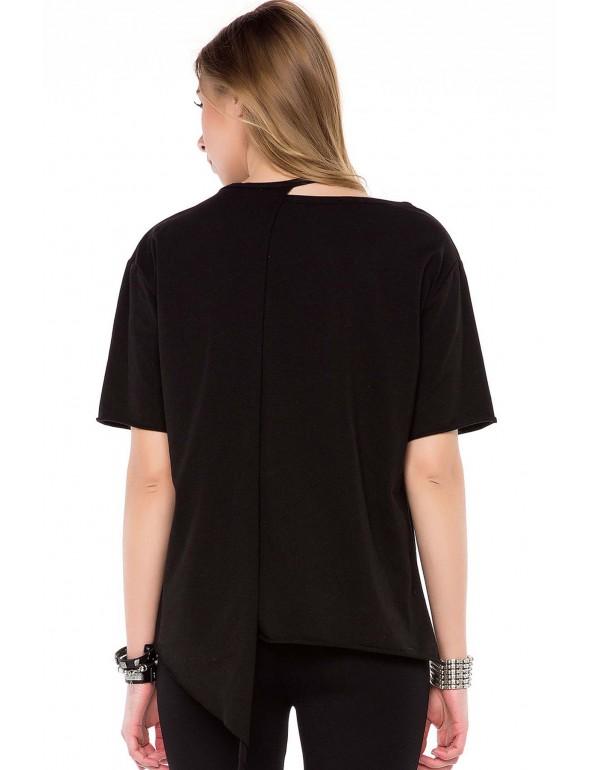 Дизайнерская брендовая футболка Cipo & Baxx WT239 BLACK