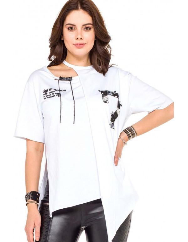 Дизайнерская брендовая футболка Cipo & Baxx WT239 WHITE