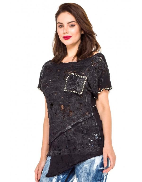 Дизайнерская брендовая футболка Cipo & Baxx WT241 BLACK