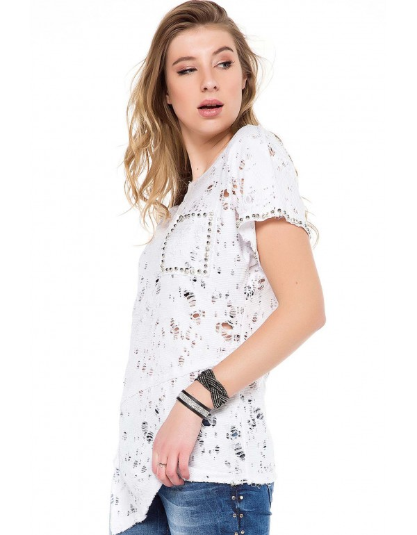 Дизайнерская брендовая футболка Cipo & Baxx WT241 WHITE